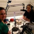 Elana Sztokman (L) with host Ilene Prusher in the TLV1 studio. Photo by Tammy Goldenberg.