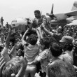 Celebrating Israel's successful Entebbe hostage mission, 1976. Credit: David Rubinger/Corbis. David Rubinger/Corbis