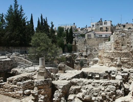 The Pool of Bethesda in the  Muslim Quarter of Jerusalem. Credit: Rishwanth Jayapaul/Flash90.