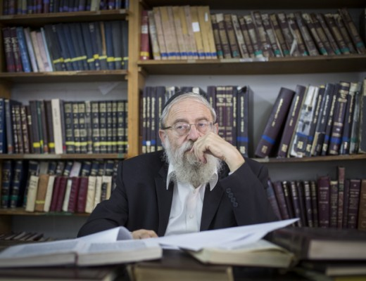 Rabbi Aryeh Stern, frontrunner for Chief Ashkenazi Rabbi of Jerusalem. Credit: Noam Revkin Fenton/Flash 90.
