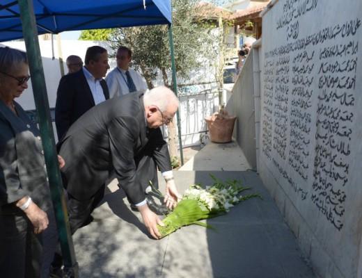 President Rivlin at the 2014 Kafr Qasem memorial. Credit: Mark Neyman/GPO.
