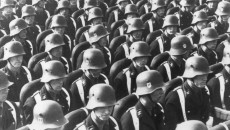 Nazi SS troops in Nuremberg, c.1938. Credit: Hulton Archive/Getty Images.