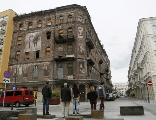 A building of the former Jewish Quarter in Warsaw that escaped WWII bombing. Credit: Miriam Alster/FLASH90.