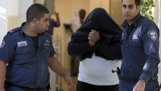 The suspect in the case of Noa Eyal are brought to the Jerusalem's Magistrates Court. Photo by Yonatan Sindel/Flash90.