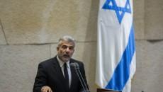 Israeli Finance Minister Yair Lapid addresses the Israeli parliament. Photo by Yonatan Sindel/Flash90.