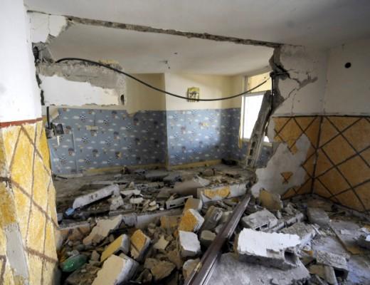 The destroyed home of Palestinian terrorist Abdel-Rahman Shaloudi in East Jerusalem. Photo by Sliman Khader/Flash90