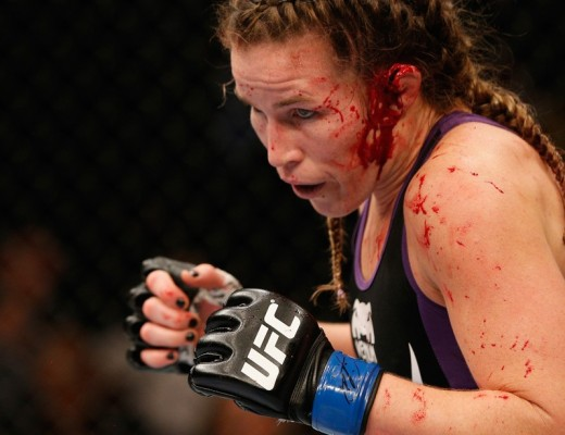Leslie Smith in her latest UFC fight.