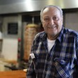 Avraham Shamai, 70, makes the shawarma every day at the Keter Hamizrach restaurant in Tel Aviv