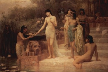 Pharaoh's daughter finds Moses in the Nile (1886 painting by Edwin Long).