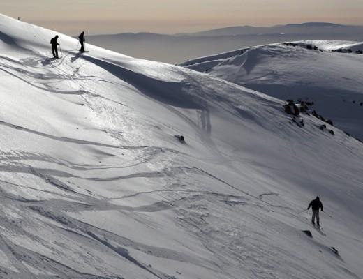 Israelis skiing on Mt. Hermon, Northern Israel. Credit: Yaakov Naumi/Flash90.
