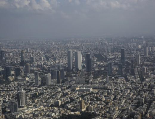 Tel Aviv's business district. Credit: Hadas Parush/Flash90.