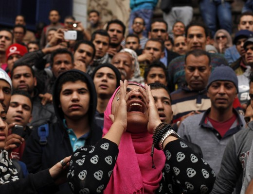 Protests in Cairo, Jan. 25. Credit: REUTERS/Asmaa Waguih.