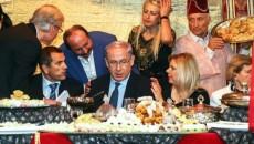 The Netanyahus at an event in Or Akiva in 2013. Credit: Avishag Sha-ar-Yashuv.