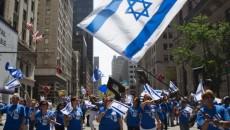 The Israel Parade makes its way up New York's Fifth Ave., June 2013. Credit: AP.