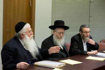 United Torah Judaism meets with Likud in the coalition negotiations. Credit: Yonatan Sindel/FLASH90.