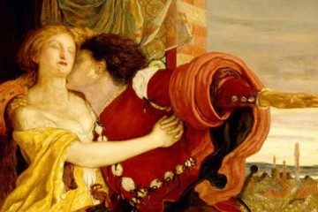 Ford Madox Brown's 1821 painting of Romeo and Juliet.