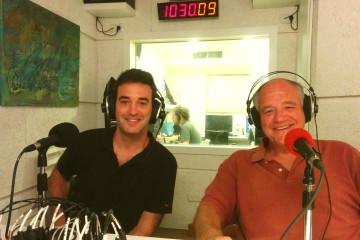 Oded Ben-Dov (L) and Boaz Zilberman in the TLV1 studio.