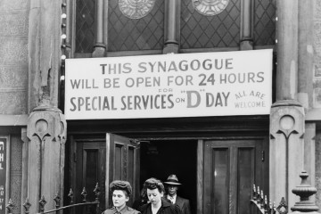 A synagogue in New York City remained open 24 hours on D-Day.