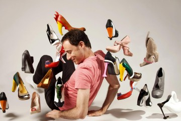 Kobi Levi and his shoes. Credit: Gili Adler & Mirit Har-Lev.