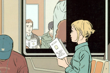 Adrian Tomine's cover for The New Yorker, Nov. 08, 2004.